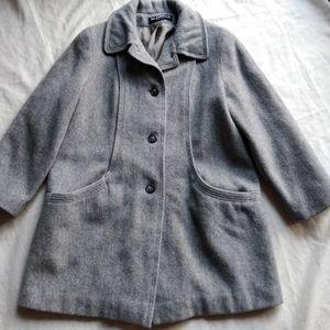 Alorna wool coat , grey color,  large size,
